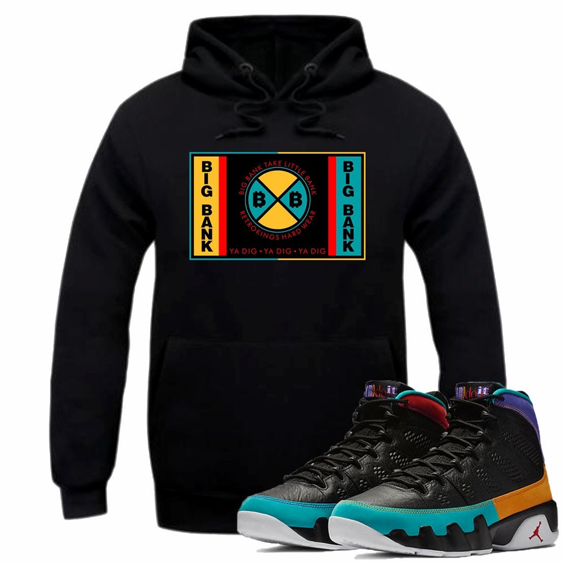 promo code 54962 d5d9d Air Jordan IX 9 Dream it Do it Flight Nostalgia Hoodie BIG   Etsy