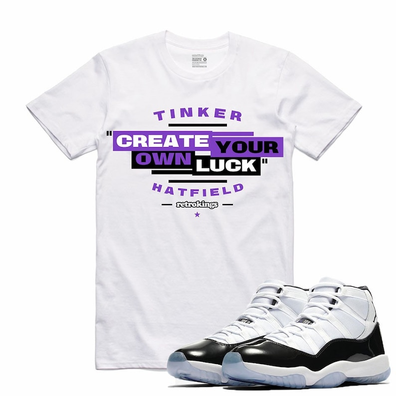 b1232d7b8af00e Air Jordan 11 XI Concord Sneaker T Shirt Matching Retro