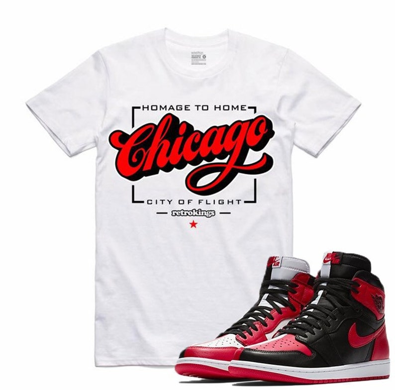 8eac72d31d5 Air Jordan 1 Homage To Home NRG Bred Toe Chicago T | Etsy