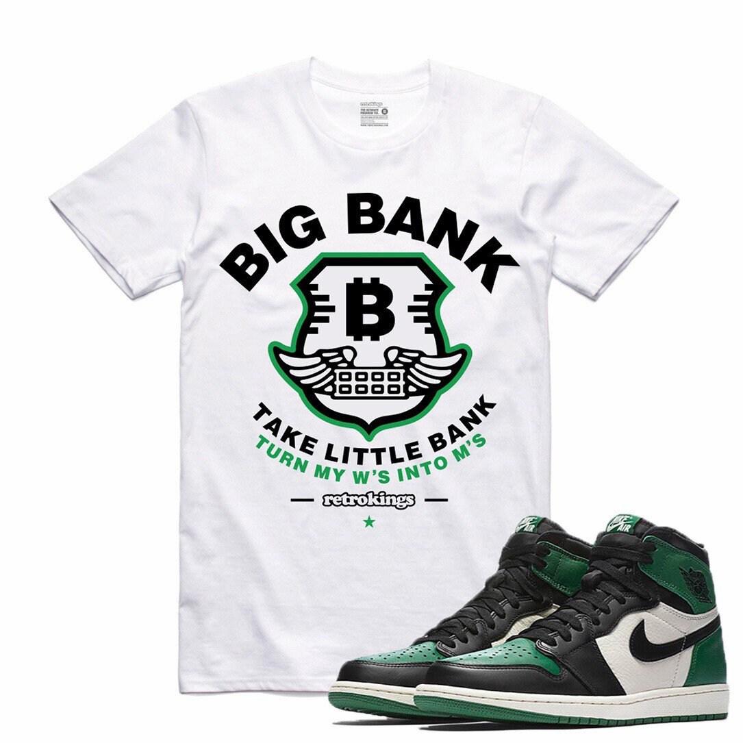 23952d7067c339 Air Jordan 1 I Pine Green Sneaker T Shirt Sneakerhead Tee