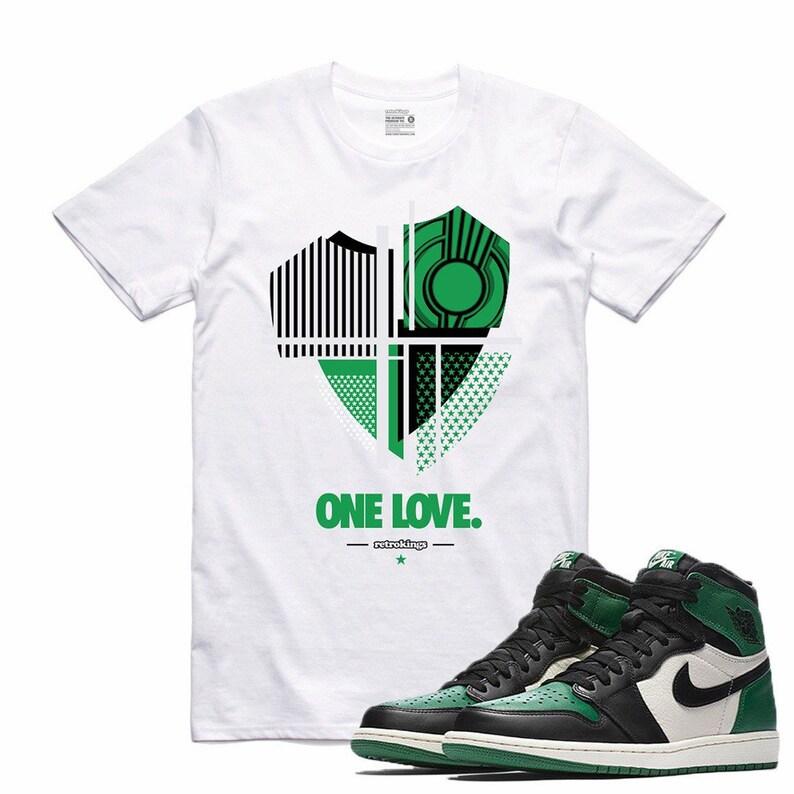 ba181e1b1fde85 Air Jordan 1 I Pine Green Sneaker T Shirt Sneakerhead Tee