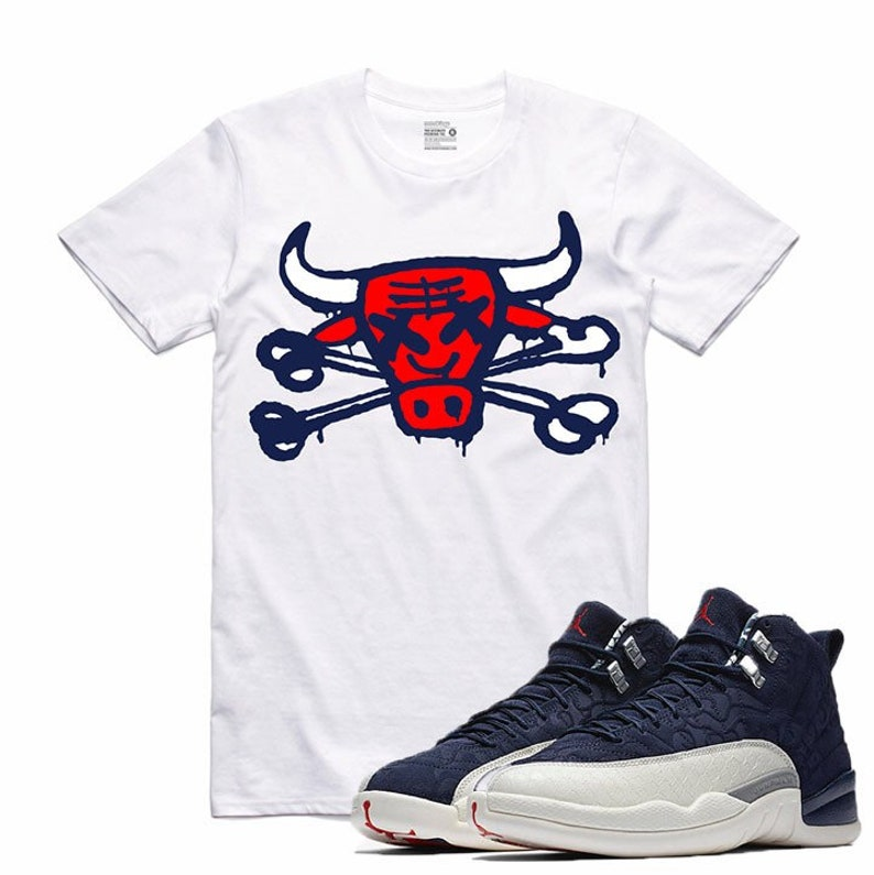 sale retailer eedb0 31ef8 Air Jordan 12 XII International Flight Sneaker T Shirt   Etsy