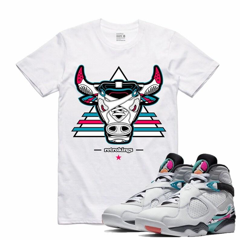 cheaper 1c968 00651 Air Jordan 8 VIII Turbo Green Spurs South Beach Sneaker T Shirt Sneakerhead  Tee