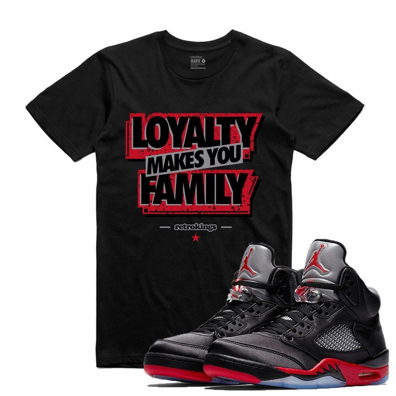 2b11b1a30baadf Air Jordan 5 V Satin Bred T Shirt Matching Retro Sneakerhead