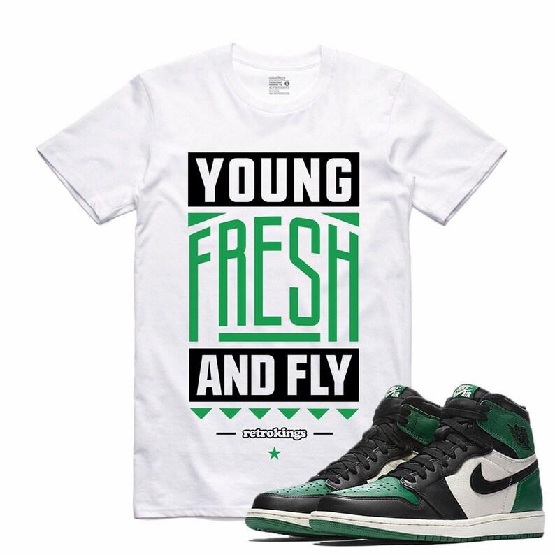 buy cheap b7300 7913b Air Jordan 1 I Pine Green Sneaker T Shirt Sneakerhead Tee   Etsy