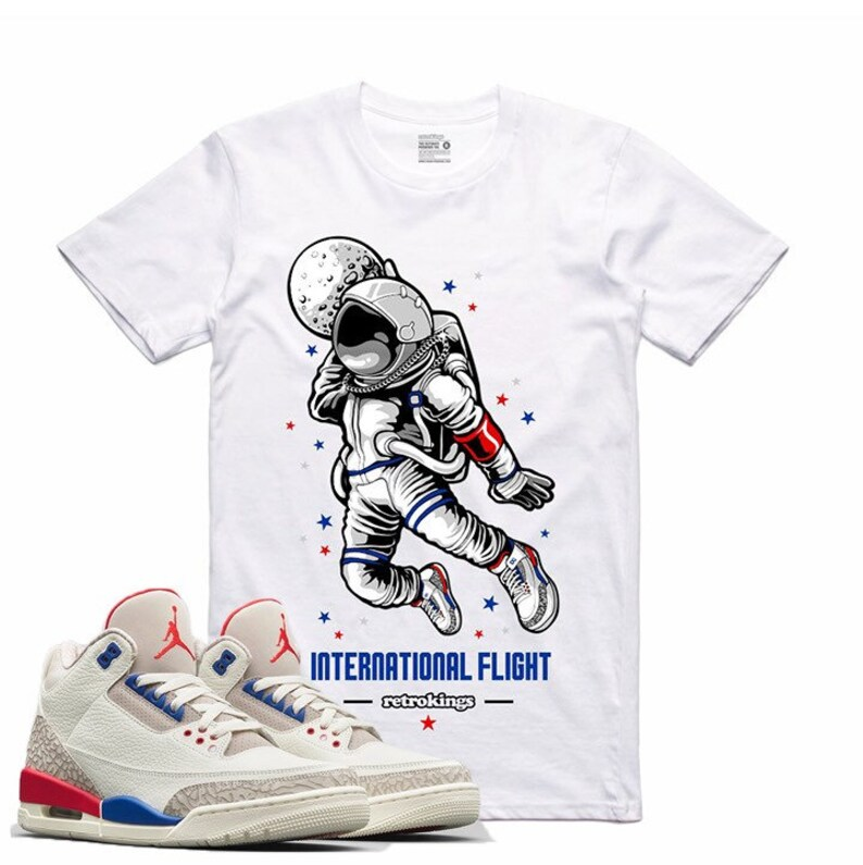 edec51d84b2 Air Jordan III 3 International Flight Sneaker T Shirt Red