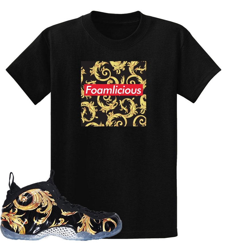 new concept e8cb9 1c186 Black Supreme Air Foamposite One Foamlicious Box Logo T Shirt   Etsy