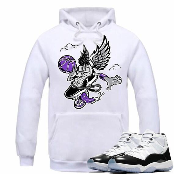 5b9c0d19290f1c Air Jordan 11 XI Concord Sneaker Hoodie Shirt Matching Retro