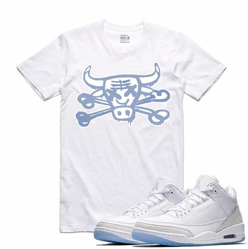 buy popular f366a 89cb7 Air Jordan III 3 Pure Money White White Sneaker T Shirt   Etsy