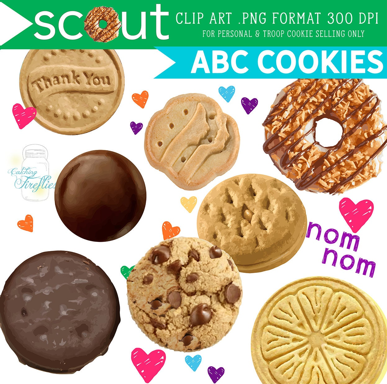 Girl Scout Cookie Clip Art Abc 2019 Cookie Donate To The -9470