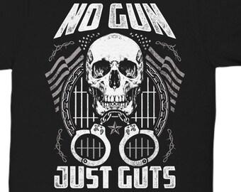 f97517ec Corrections Shirt   No Gun - Just Guts T-Shirt   corrections, correctional, corrections  officer, correctional officer, corrections officers