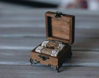Rustic Ring Box, Engagement Ring Box, Proposal Wedding, Ring Box