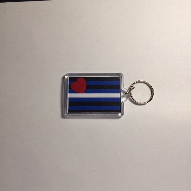 Grade B Leather Pride Keyfob Keyring Badge Magnet Coaster image 0