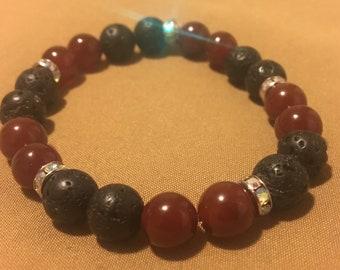 Red essential oil bracelet