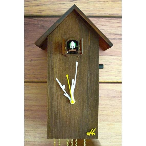 Reloj Cuco Reloj De Pared Hecho A Mano Reloj Madera Reloj Etsy