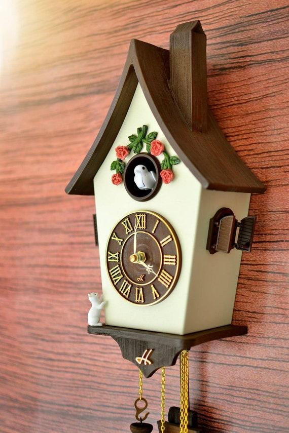 Cuckoo Clockwall Clock Modern Cuckoo Clock Home Decorhand Etsy
