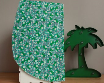 Hair towel for natural or colored hair   Blue Flowers   Coco Caribou