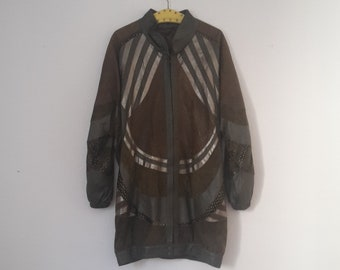 80 s veste en cuir, kaki, 42 f6e06557ee0