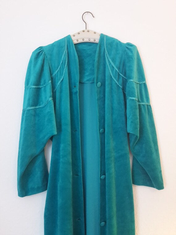 Turquoise Dressing Gown S/M 38   Etsy