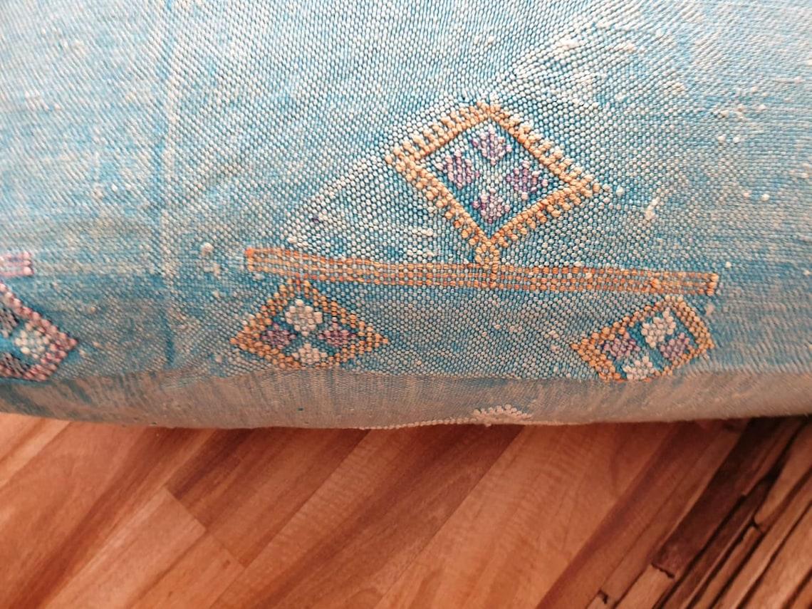 Handwoven Moroccan Sabra floor pouf, Cactus silk pouf,Handmade berber Pillow, Pillow cover,bed pillow, Floor Cushions,23