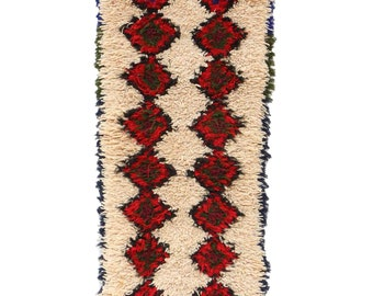 5x8 feet Vintage Azilal Rugs Beige Purple Red Bohemian Eclectic Abstract Medium vintage berber carpet Mixed Wool /& Cotton