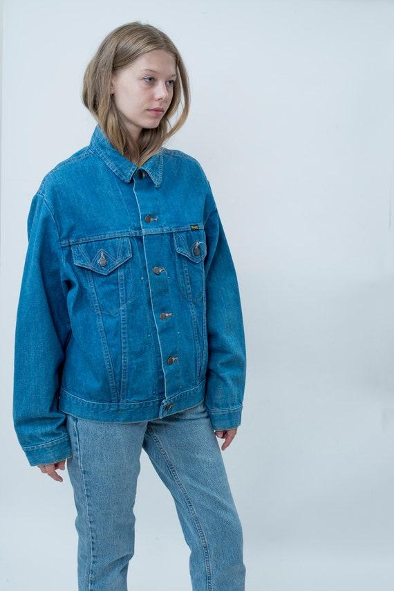 50 s jean veste en jean s large | veste en Jean | veste gamme 46 | veste en jean boxy unisexe homme | veste en jean Workwear utilitaire rancher b90190