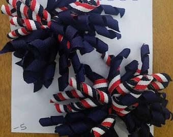 Big Southern Patriotic Hair Bow, Big Southern 4th of July Hair Bow, 4th of July Hair Bow, Patriotic Hair Bow