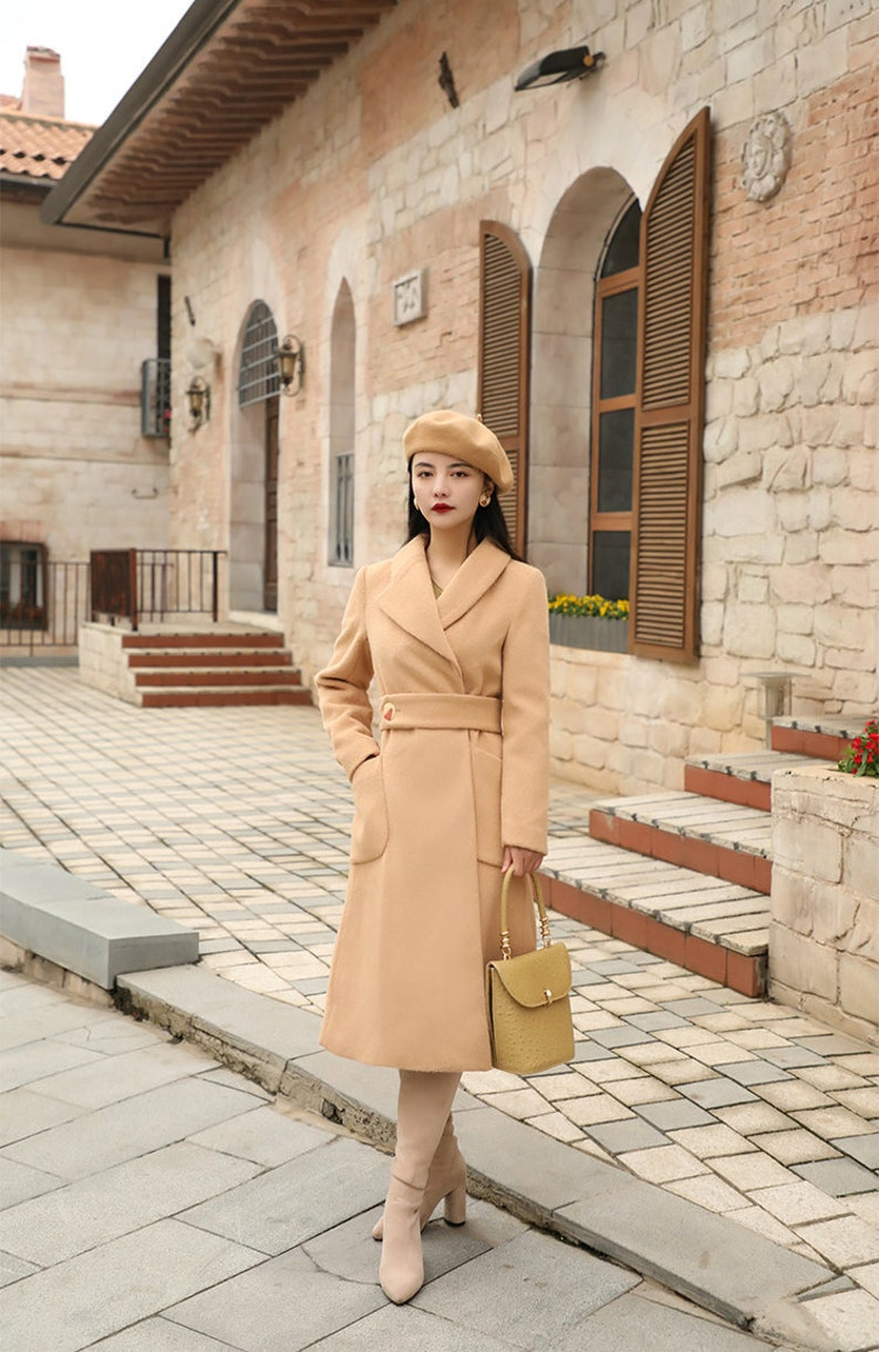 1940s Style Coats and Jackets for Sale Mr. Water Retro Fitted Coat. Camel Coat. Wool Coat. Fall/Winter Special $169.00 AT vintagedancer.com