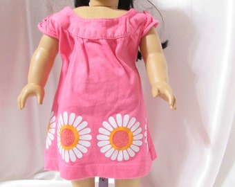 """Pink dress or top for 18"""" dolls."""