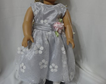 """Sleeveless party dress for 18"""" dolls."""