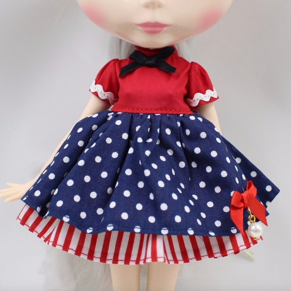 "Simple Black Dress 12/"" Blythe Doll Factory Blythe/'s Outfits"