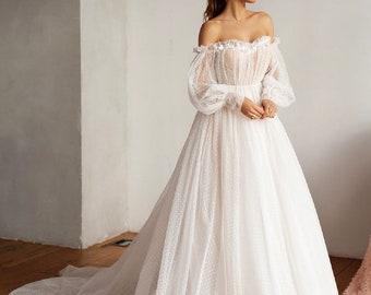 Flowy Wedding Dress Etsy,Lily Allen Wedding Dress David Harbour