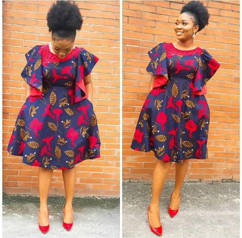 50b3baf646 African print dress Ankara short dress African dresses for