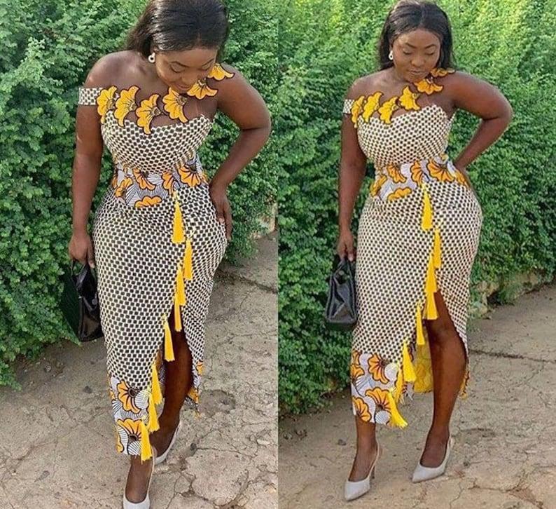 African print midi dressAfrican wedding dressesAnkara clothing for womenAfrican wedding dressesdashiki dressparty dressprom dress