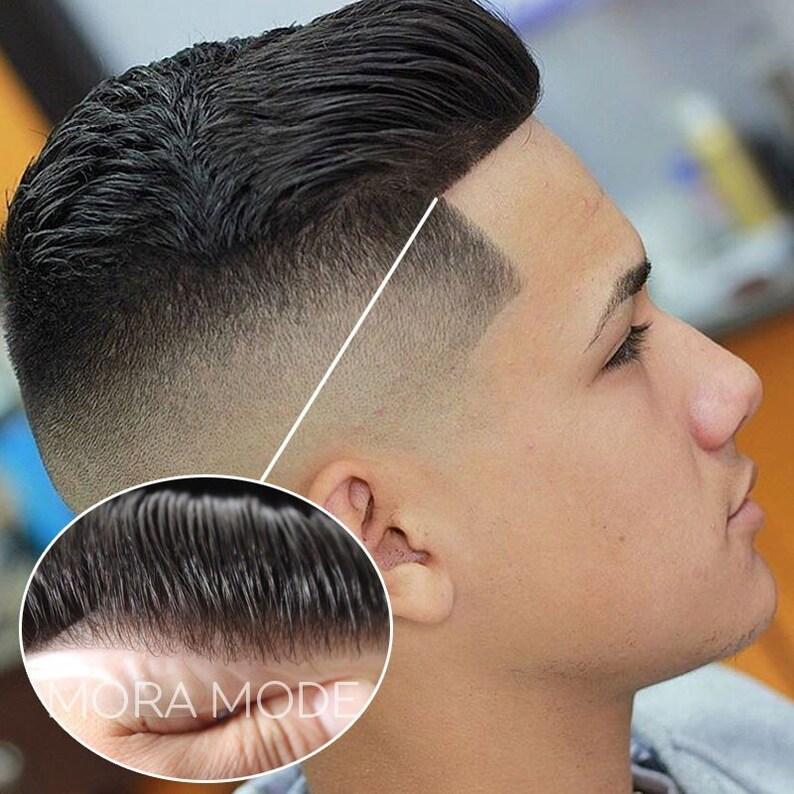 Morceau de cheveux pour homme Perruque hommes