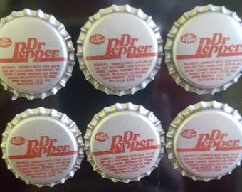 Aimants de Dr pepper! capsules de bouteilles aimants! Pack de 6