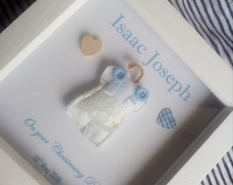 Christening gifts /baptism gift / baby boy christening personalised gift frame, unique, handmade, customized present for Christening