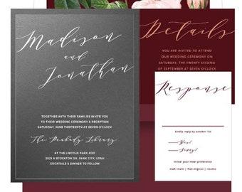 5x7 Clear Wedding Invitation Vinyl Invitation Transparnet Etsy