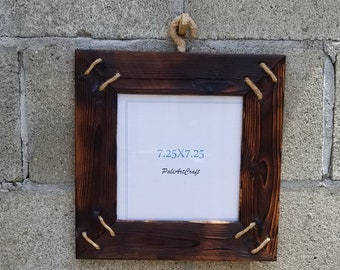 Vintage wood carved picture frame