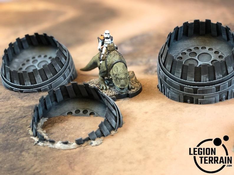 Star Wars Legion Terrain 40k Crashed 5 Engine Set