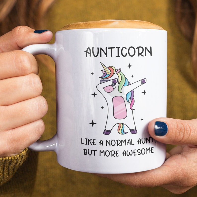 Aunticorn Coffee Mug Cup / Unicorn Aunt Coffee Mug / Aunt Gift image 0