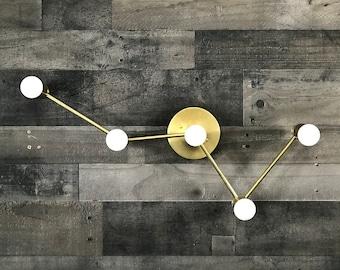 Cassiopeia 5 Bulb Wall Sconce Modern Industrial Vanity Mid Century Bathroom Art Light