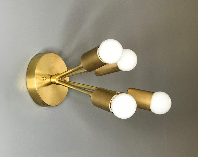 Kuzma Modern Semi Flush 4 Bulb Sputnik Mid Century Industrial Vanity Bathroom Light