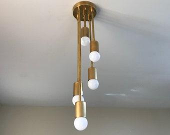 Gradibus Modern Semi Flush 5 Bulb Abstract Descending Sputnik Mid Century Industrial Light