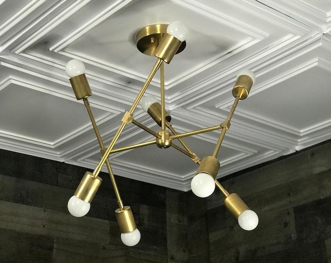 Tisiphone Modern Geometric Sputnik Chandelier 8 Light Mid Century Industrial Light