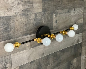 Kadan 5 Bulb Candelbara Wall Sconce Mid Century Modern Bathroom Hallway Vanity Light