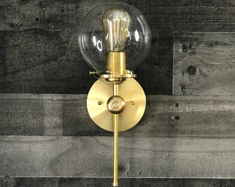 Achilles Wall Sconce 6 Inch Globe Vanity Mid Century Industrial Modern Art Light