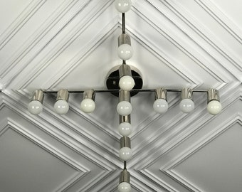 Sonrisa Modern Chandelier 13 Light Sputnik Mid Century Industrial Light