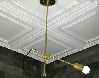 Lincoln Modern Mid Century Single Bulb Minimalist Semi Flush