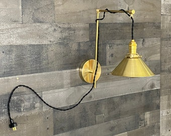 Shinri Modern Wall Sconce Single Bulb 8 Inch Shade Mid Century Contemporary Lighting